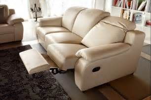 Rocking Loveseat Creme Reclining Leather Sofa With Modern Look Plushemisphere
