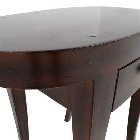 oval wood side table 83 oval wood side table with one drawer tables