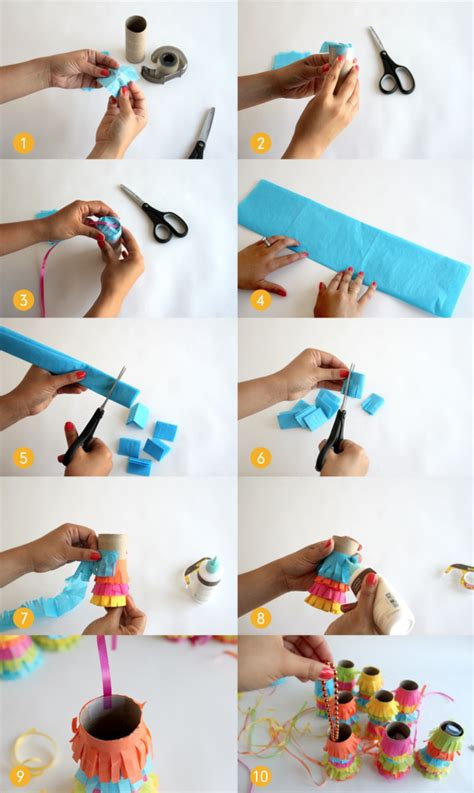 How To Make A Pinata With Tissue Paper - make this pull pi 241 ata garland cupcakes