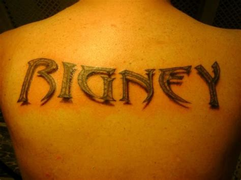 3d name tattoos