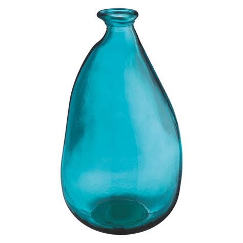 esterban blue recycled glass vase buy now at habitat uk