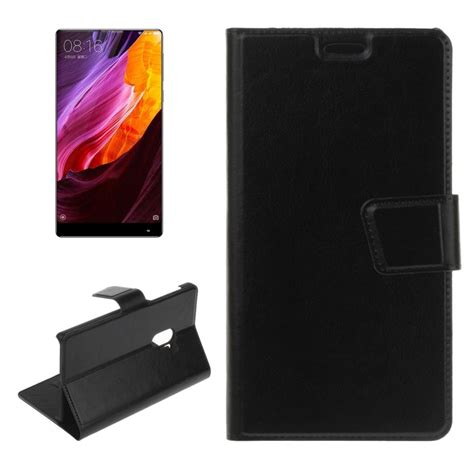 Xiaomi Mi Mix Flip Cover Wallet Leather Casingkulit Dompetkulit for xiaomi mi mix texture horizontal flip pu leather with holder card slots