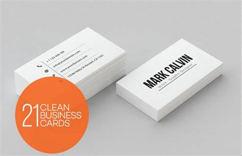 25 personal business card templates in psd word format