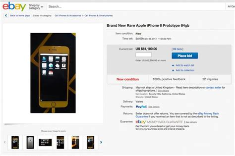 ebay mobile site uk iphone 6 prototype mistakenly sent to customer and is now