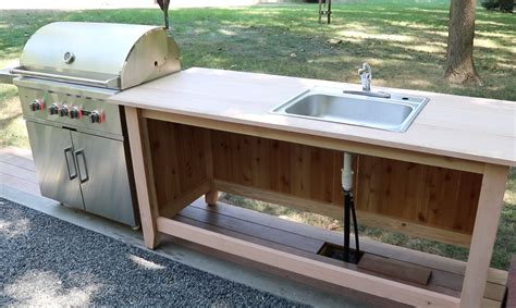 Outdoor Kitchen Sink Cabinet Build An Outdoor Kitchen Cabinet Countertop With Sink Jon Peters Home