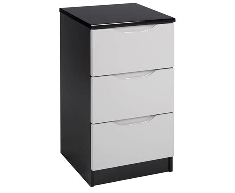 High Gloss Bedside Drawers vogue 3 drawer high gloss bedside chest just headboards