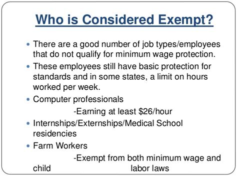 Mba Minimum Salary by Mba 592 Presentation An Analysis Of The Federal Minimum Wage