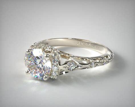 Filigree Engagement Ring by Enchanted Filigree Engagement Ring 14k White Gold 17680w14