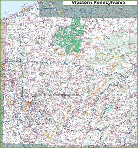 maps of pa western pa map adriftskateshop