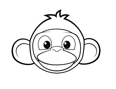 mod monkey coloring pages colouring monkey clipart best