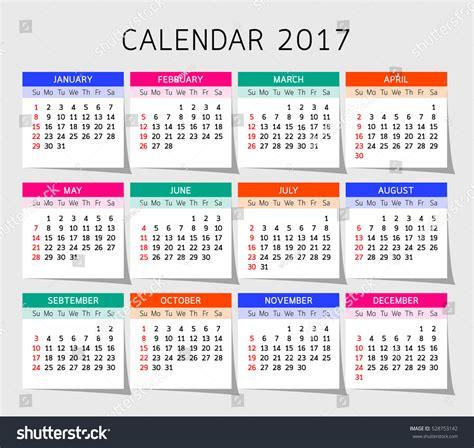 calendar template illustrator calendar year vector illustration design template stock