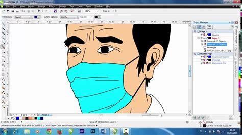 tutorial corel draw efek kartun cara membuat efek kartun dengan corel draw part 2 coloring