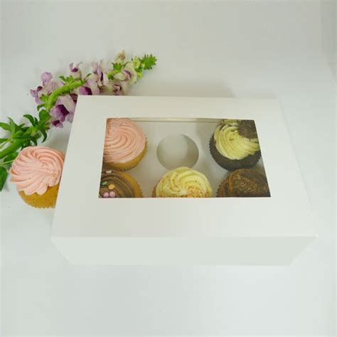 cupcake window boxes 25 sets of window cupcake box with 6 cupcake holder 1 40