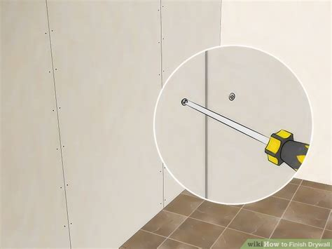 3 ways to finish drywall wikihow
