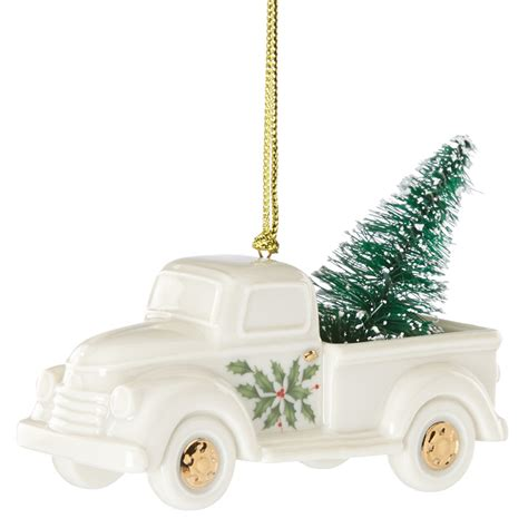 holiday truck with christmas tree lenox christmas ornaments