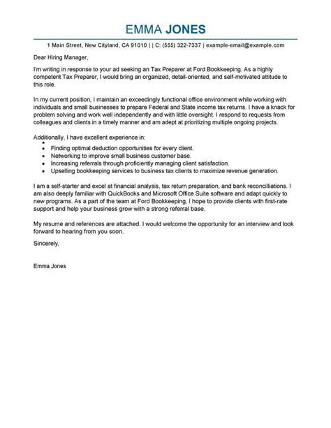cover letter for tax position leading professional tax preparer cover letter exles