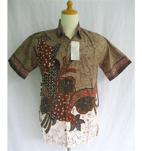 Batik Pria Modern 2 baju batik modern pria coklat modern batik sekar