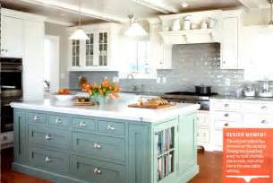kitchens with different colored islands colored kitchen cabinets