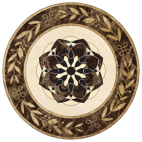 marble floor medallion traditional floor medallions