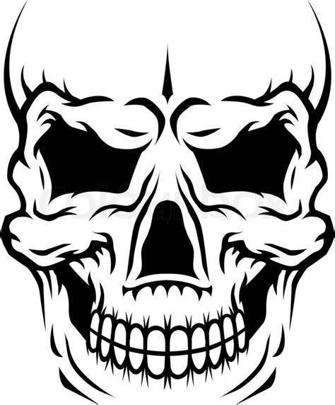 danger human skull stock vector colourbox