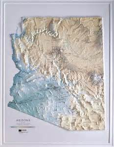 arizona relief map raised relief maps 3d topographic map us state series