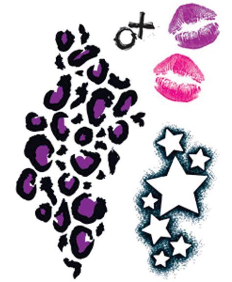 leopard print star tattoos cheetah print tattoos designs