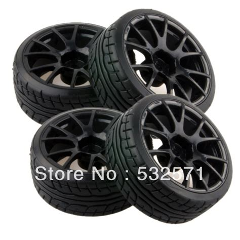 4pcs Black 1 9 Wheel Rims For Hsp Hpi Racing 1 10 Rc Model 4wd Car 60 4pcs tyre black wheel fit hsp hpi tamiya kyosho 1 10 rc car drift tire 9060 9014 in