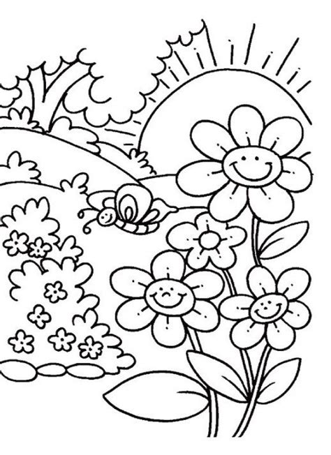 free coloring pages of trees and flowers flower coloring pages for preschoolers