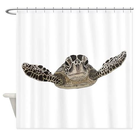 Sea Turtle Bathroom Accessories by Sea Turtle Shower Curtain By Saltern