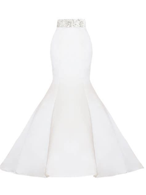 White Highsted Bridal Satin Trumpet Skirt Elizabeths