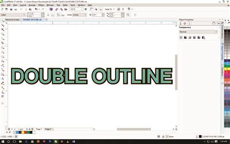 membuat outline pada gambar di coreldraw membuat double outline di corel draw kelas desain