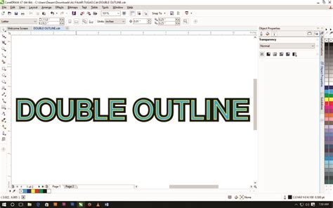 membuat outline text corel draw membuat double outline di corel draw kelas desain