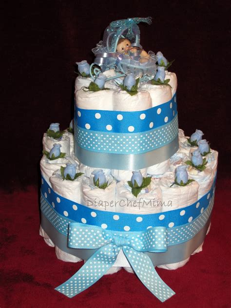 Cake Diapers Baby Shower by Chef Mima Baby Shower Cake Centerpieces
