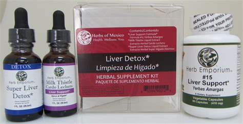 Liver Detox Kit by Detox Tonics Cleanses Herbs Of Mexico Health