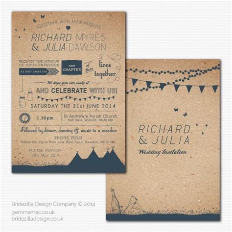 summer fete wedding invitations summer fete tipi wedding invite family cout reunion