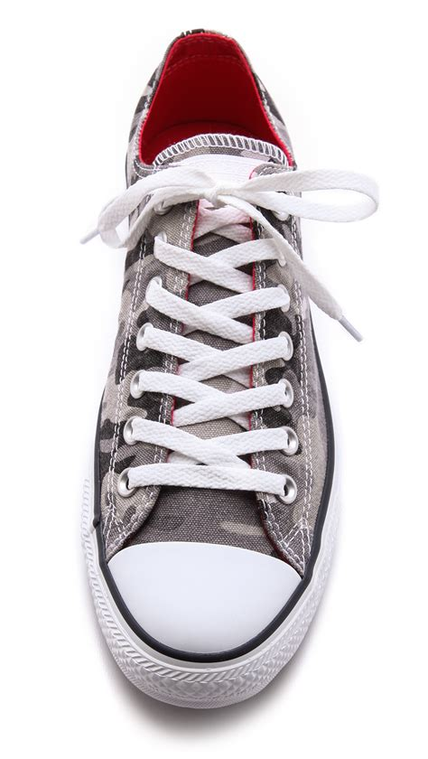 converse camouflage sneakers converse all camo sneakers in gray for lyst