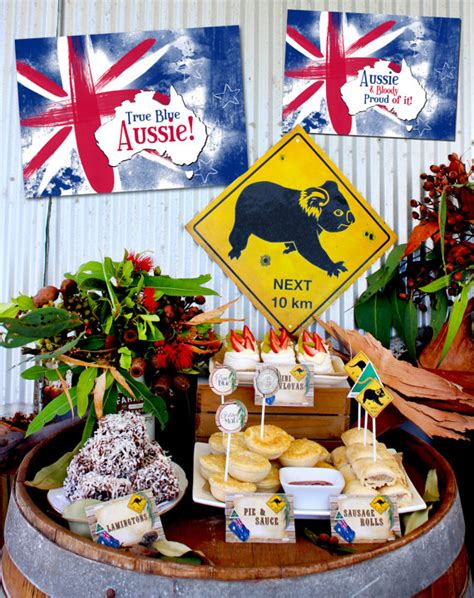 australian themed decorations australia day poster pack instant aussie