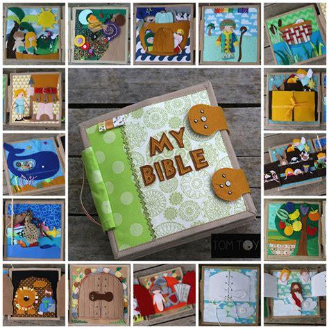 Handmade Story Books - bible book church busy book handmade fabric bible