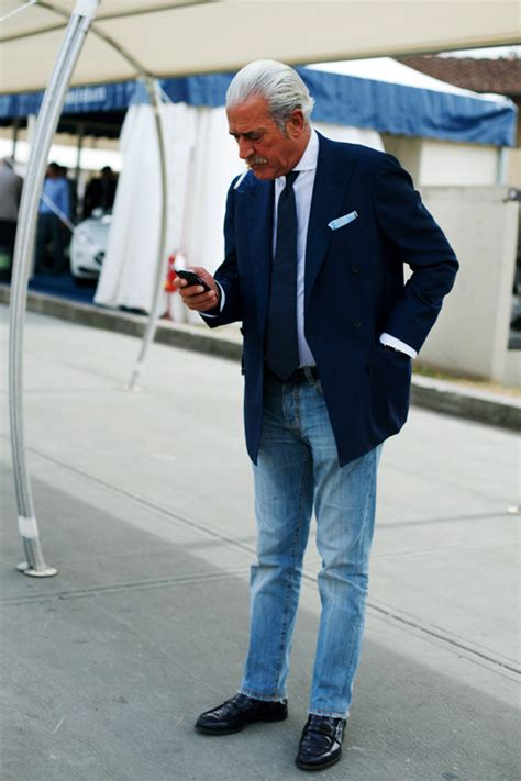 appropriate style for middle aged male grey fox denim jeans and the middle aged and older man
