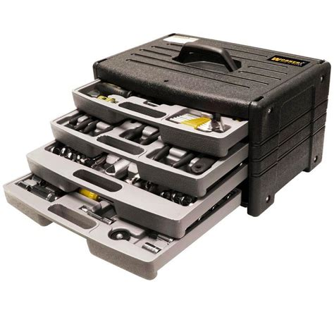 worker tool sets 4 drawer tool chest with 105 tool