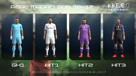 pes 2013 real madrid 2016 2017 kits by kikejg17 pes patch