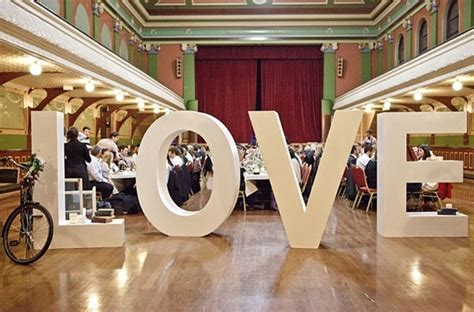 Oversized Letters Wedding Decor