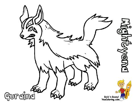 pokemon coloring pages poochyena poochyena coloring pages coloring home