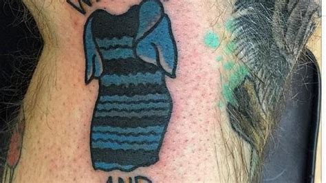 tattoo black and blue dress man tattoos blue and black white and gold dress