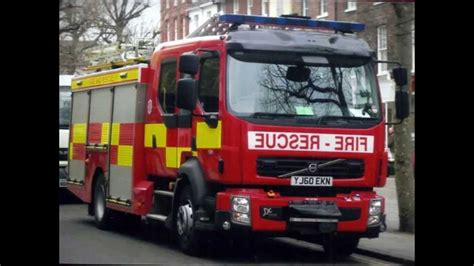 fire trucks  london fire brigade north yorks
