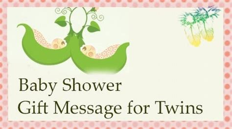 Baby Shower Gift Card Message - baby shower gift message for twins