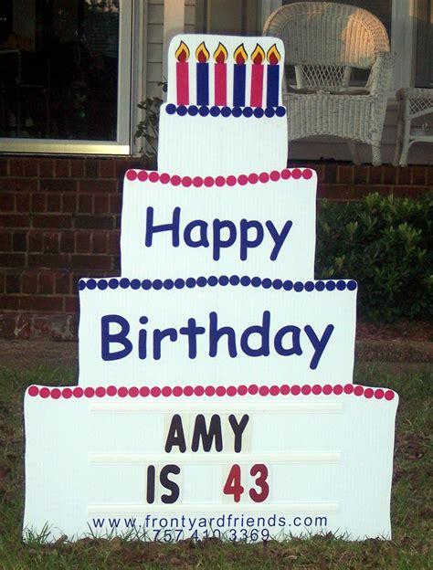 front yard signs va lawn greetings va yard cards virginia birthday signs