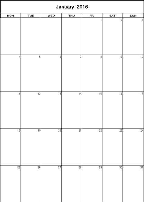 printable calendars january 2016 january 2016 printable blank calendar calendarprintables net