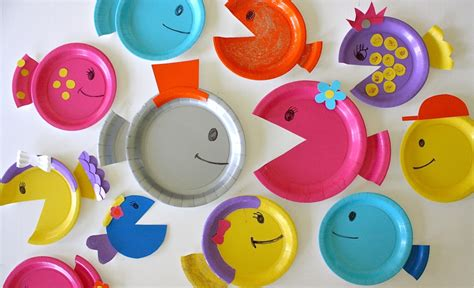 How To Make Fish Out Of Paper Plates - paper plate fish made everyday