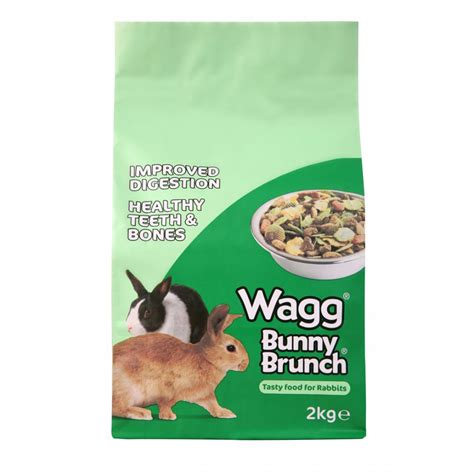 rabbit food wagg bunny brunch complete rabbit food 2kg feedem